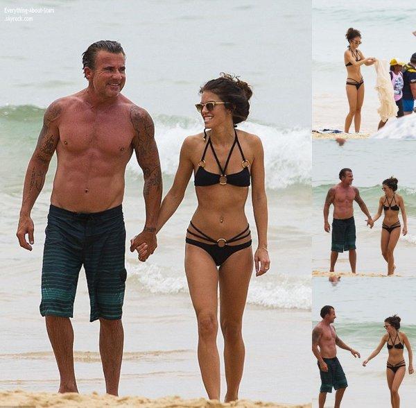 02/01/14: Annalynne Mccord aperçue en mode détente avec son boyfriend Dominic Purcell sur une plage à Sydney