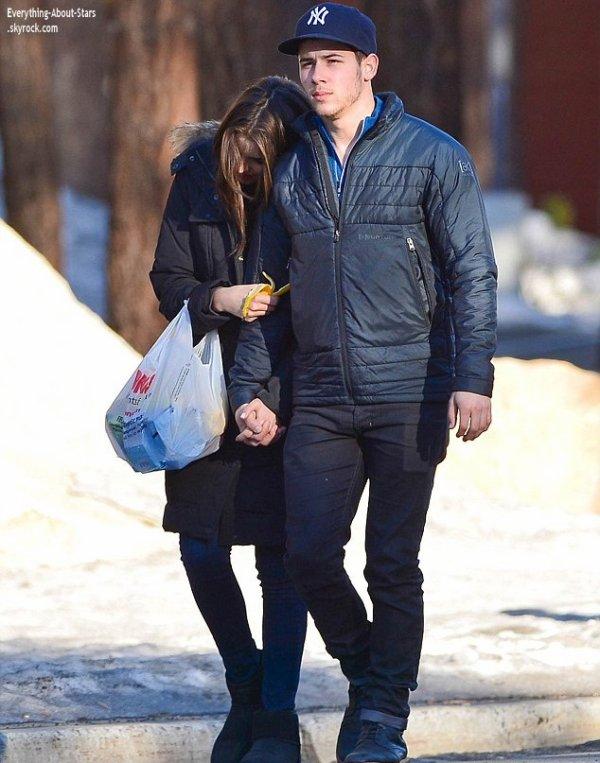 02/01/14: C'est en balade en amoureux, que Nick Jonas et sa girlfriend Olivia Culpo ont été aperçue main dans la main à Mammoth Lake en California
