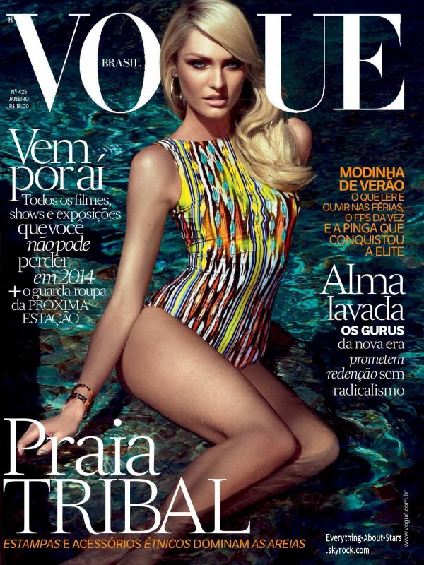 Candice Swanepoel en couverture de VOGUE