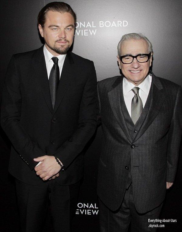 07/01/14: Leonardo Dicaprio été au côté de Martin Scorsese durant à la cérémonie des National Board of Review Gala 2014