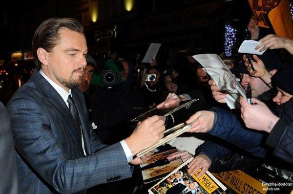 """Leonardo Dicaprio, Margot Robbie et Jonah Hill à la première londonienne du """"Loup de Wall Street"""""""