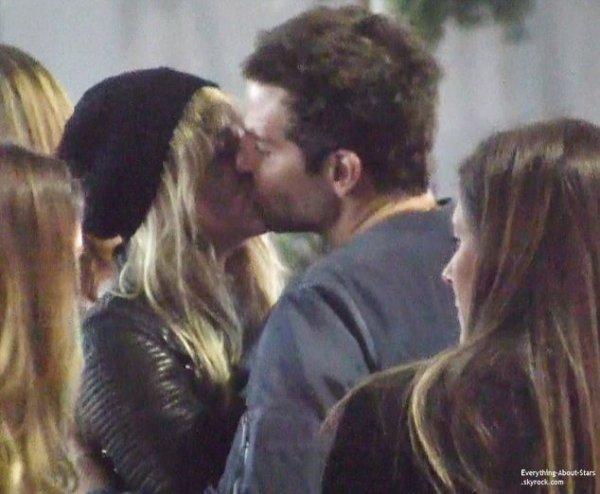 20/01/14: Bradley Cooper et sa girlfriend Suki Waterhouse à la sortie du concert de Justin Timberlake à IngleWood en Californie