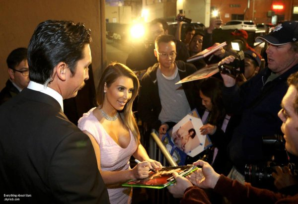 23/01/14: Kim Kardashian aperçue se rendant à l'émission de Jimmy Kimmel Live à Hollywood