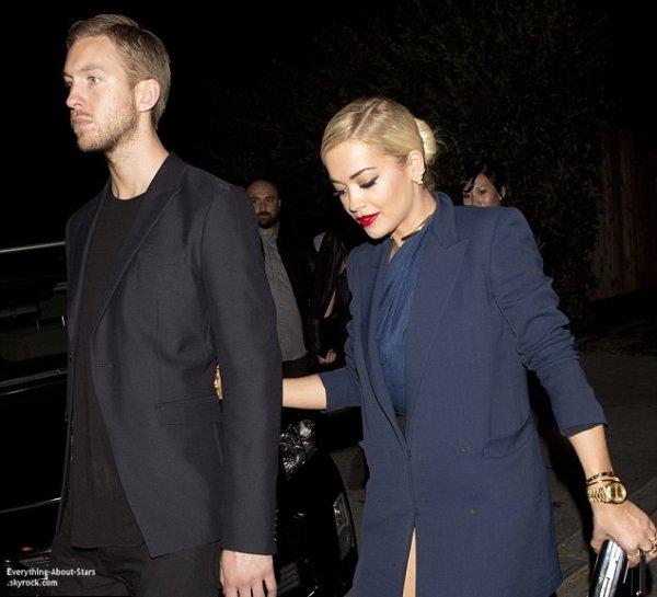 Pré Grammy Awards 2014:  Rita Ora et son boyfriend Calvin Harris se sont rendus au   1 Oak club à West Hollywood