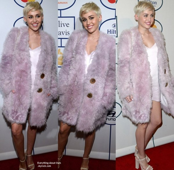 Pré Grammy Awards 2014:    Miley Cyrus, Jennifer Hudson et Ashanti sur le tapis rouge des Pré-Grammy Awards de Clive Davis à Los Angeles