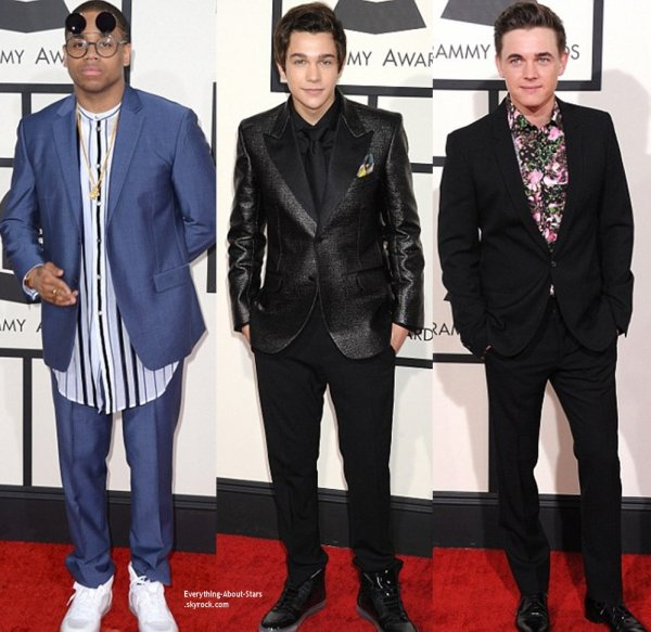GRAMMY AWARDS 2014: Cérémonie, Red Carpet, Palmarés, Récompense et Vidéos  Mack Wilds,Austin Mahone, Jesse McCartney, Marc Anthony, Chloé Green, Ariana Grande et Kelly Osbourne sur le Red Carpet des Grammy Awards 2014
