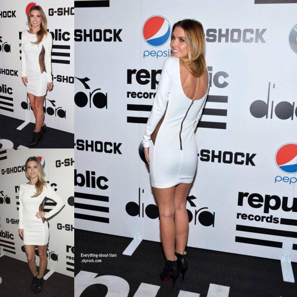 Audrina Patridge sur le red carpet  des Republic Records Post Grammy Party à West Hollywood