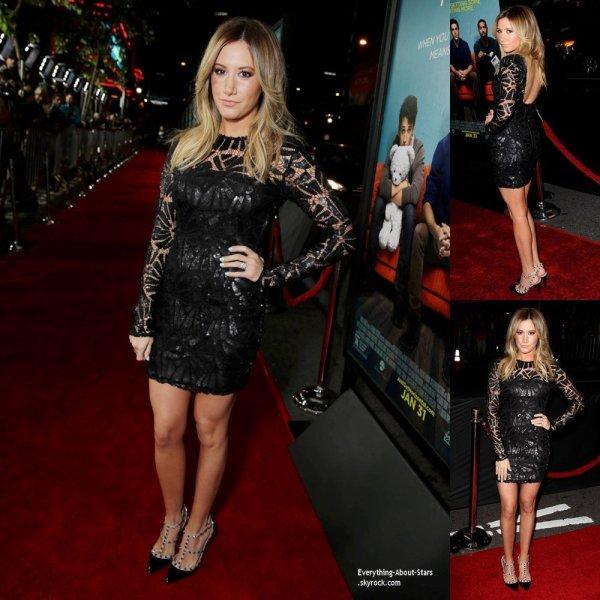 27/01/14: Ashley Tisdale à l'avant-première de la nouvelle comédie, That Akward Moment, organisée dans le quartier de Downtown Los Angeles