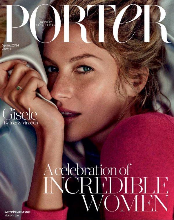 Gisele Bundchen en couverture de PORTER MAGAZINE