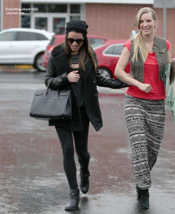 06/02/14: Lea Michele et Heather Morris ont profité de leur temps libre pour se retrouver et savourer une journée shopping à Los Angeles