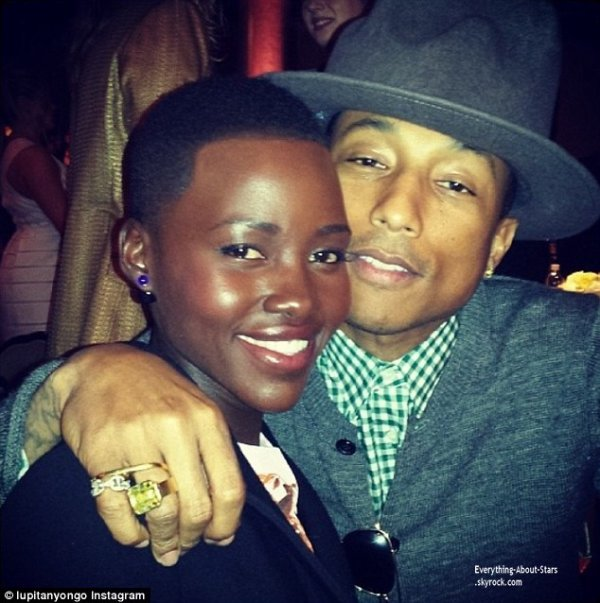 Photo du jour: Pharell Williams et Lupita Nyong'o