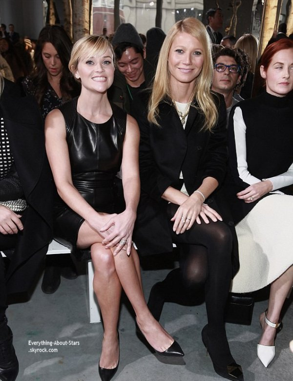 12/02/14: Reese Witherspoon, Gweneth Paltrow, Diane Kruger, Gérard Butler, Scott Eastwood, Benedict Cumberbatch et Jason Wu lors du défilé de Hugo Boss pendant la Fashion Week de New York
