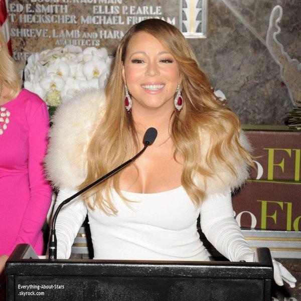 13/02/14: Mariah Carey à interpréter en live son nouveau single You're Mine à l'Empire State Building à New York