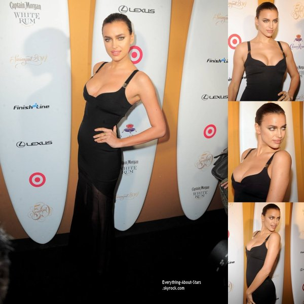 18/02/14: Irina Shayk lors de la soirée pour les 50 ans du Sports Illustrated 'Swimsuit Issueà Miami