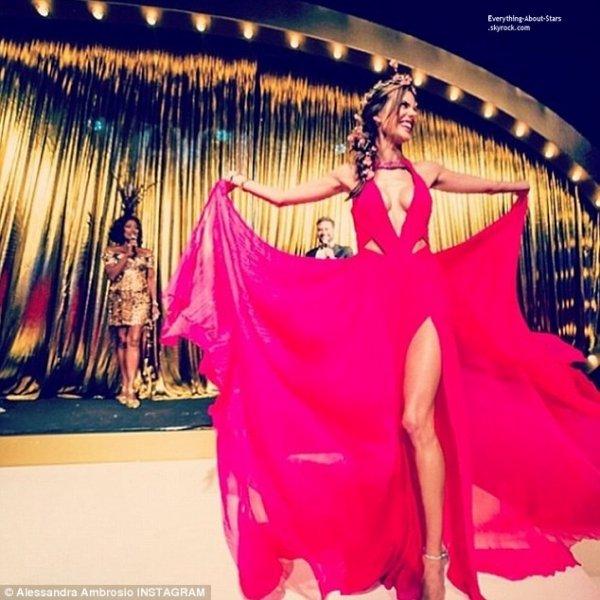 21/02/14: Alessandra Ambrosio a participé à une soirée organisée par Vogue pour la promotion des carnavals qui débuteront la semaine prochaine