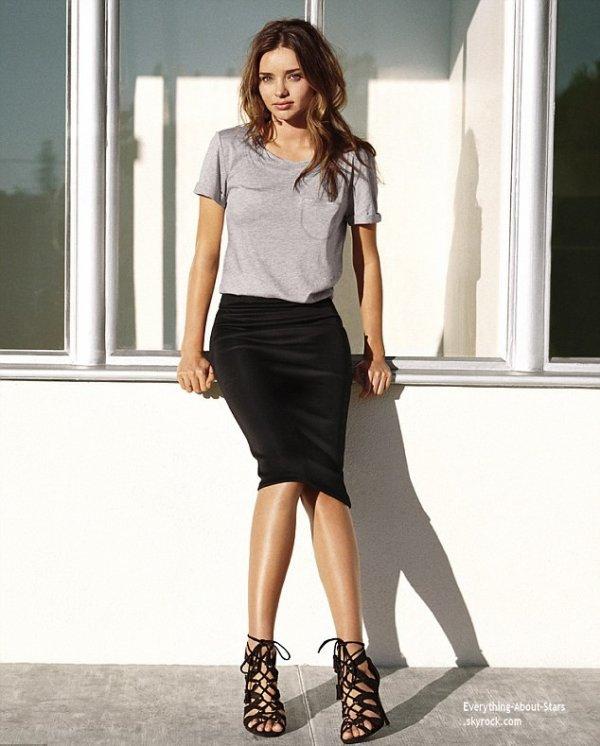 Miranda Kerr égérie d'H&M prend la pose pour la nouvelle campagne publicitaire