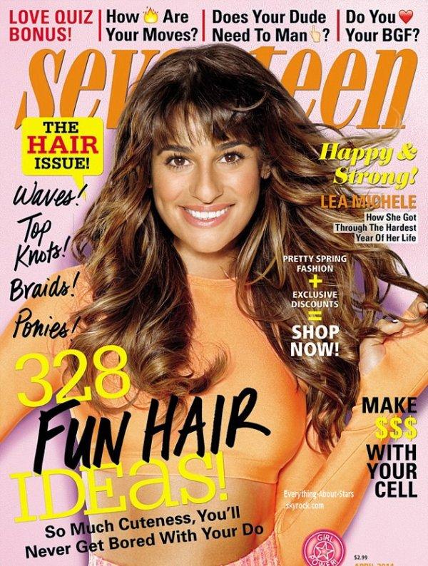 Lea Michele en couverture de SEVENTEEN