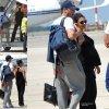 06/07/14: Ashton Kutcher et Mila Kunis aperçue à l'aéroport pour se rendre en vacances en Italie