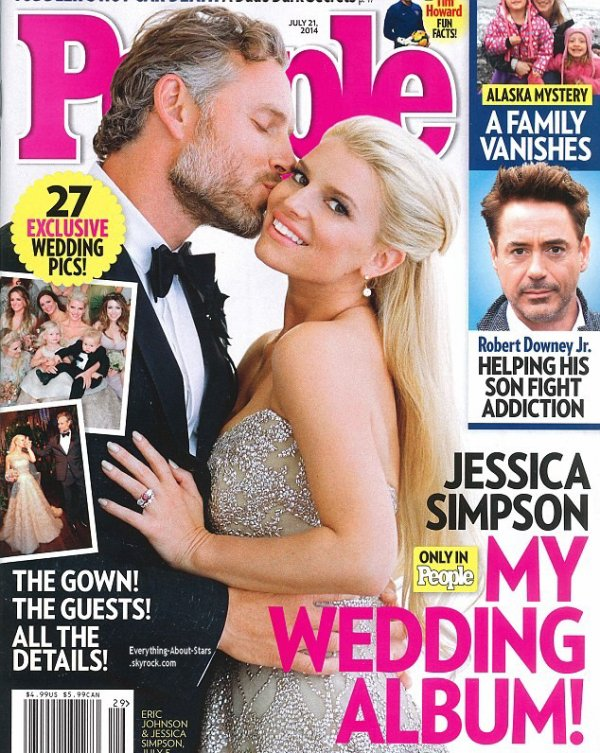 Jessica Simpson et Eric Johnson en couverture de People Magazine