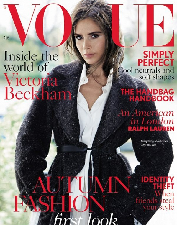 Victoria Beckham en couverture de  Vogue Magazine  Quel est votre préférée ?