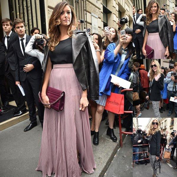 08/07/14: Nina Dobrev et Olivia Palermo sont allés assisté au défilé Elie Saab pendant la Fashion Week 2015 Automne-Hiver à Paris