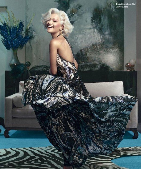 Rita Ora : une Marilyn Monroe des temps modernes pour Roberto Cavalli