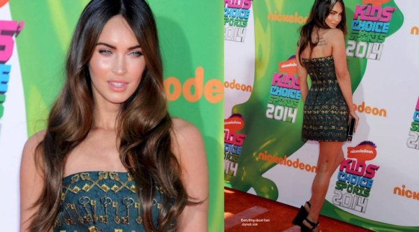 17/07/14: Megan Fox était sur le tapis rouge Nickelodeon Kids' Choice Sports Awards 2014 qui avait lieu au UCLA's Pauley Pavilion à Los Angeles