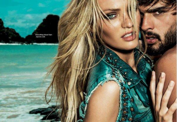 Candice Swanepoel pose pour Fernando de Noronho