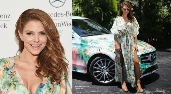 19/07/14: Maria Menounos était à la Mercedes-Benz Fashion Week Swim 2015 à Miami Beach