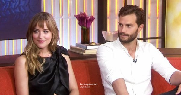 23/07/14:  Dakota Johnson et Jamie Dornan les acteurs du célèbre film Fifty Shades Of Grey été sur le plateau de l'émission  The today show