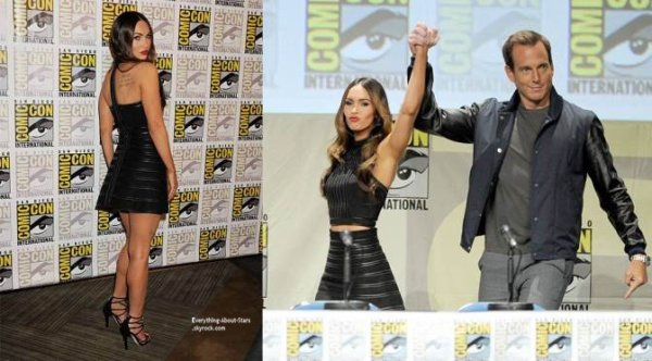"""24/07/14: Megan Fox s'est rendu au Comic-Con pour présenter son nouveau blockbuster: les """" Ninja Turtles"""" à San Diego"""