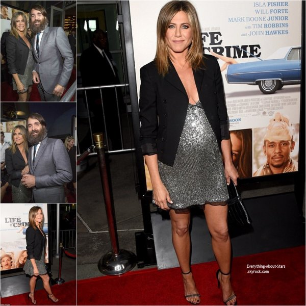 27/08/14: Jennifer Aniston aperçue à la première de son film  Life Of Crime avec Will Forte à Los Angeles
