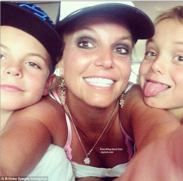 Selfie du jour: Britney Spears avec ses fils Sean et Jayden