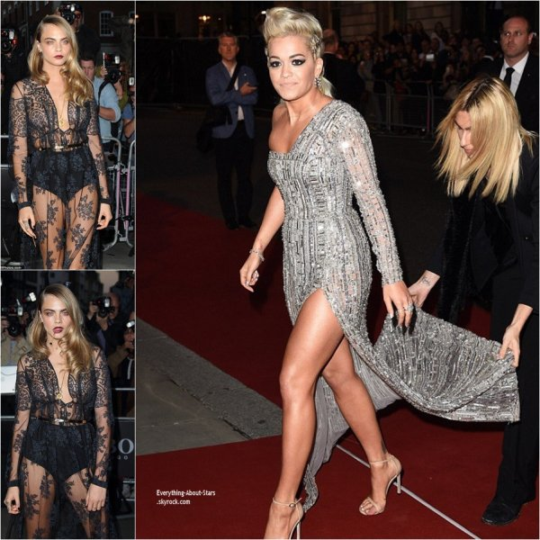 02/09/14: Rita Ora, Lindsay Lohan, Cara Delevingne et Jourdan Dunn à l'occasion de la soirée GQ Men of the Year Awards 2014, à Londres