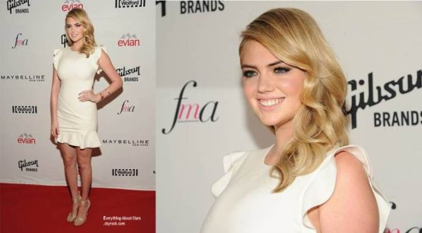 "05/09/14: Kate Upton aperçue sur le red carpet des  "" 2nd Annual Fashion Media Awards"" à New York"