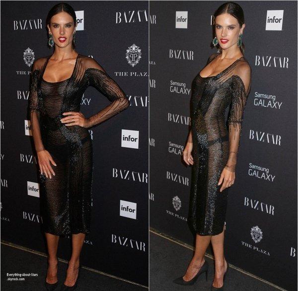 """05/09/14: Alessandra Ambrosio, son fiancé Jamie Mazur et Candice Swanepoel se sont rendus à une fête organisé par """"Harper's Bazaar"""" à New York City"""