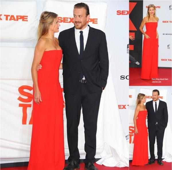 """05/09/14: Cameron Diaz et Jason Segel à la prémiere de leur film """"Sex Tape"""" en Allemagne"""