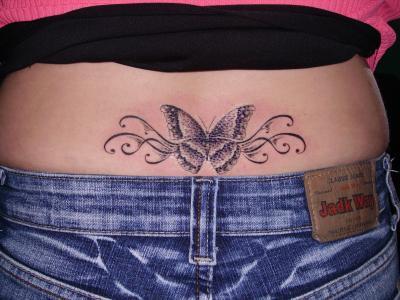 Bas De Dos Papillon La Buse Tattoo