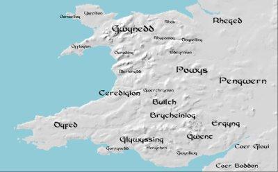 Owain Finddu, Roi de la moitié sud du Pays de galles (Cernyw)