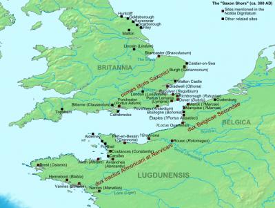 La stuation de l'Armorique entre le début et la moitié du 5ème siècle