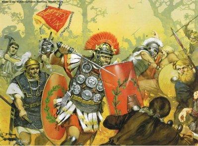 La bataille de Teutoburg