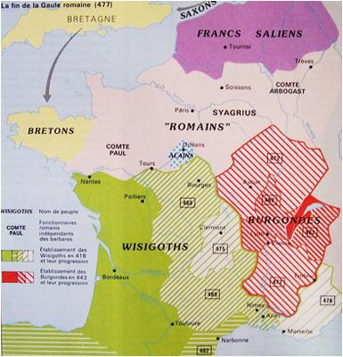 L'expédition de Riothamus en Gaule