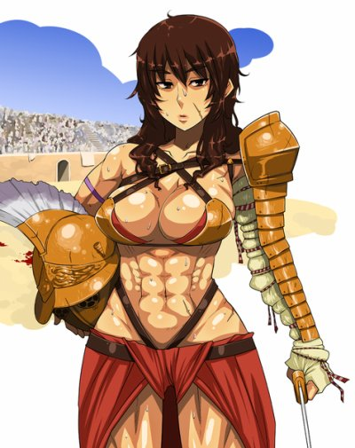 Les femmes gladiateurs