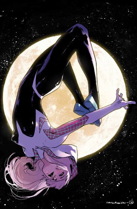 Spider-Gwen, une version alternative de Gwen Stacy, qui remplace au mieux Spiderman