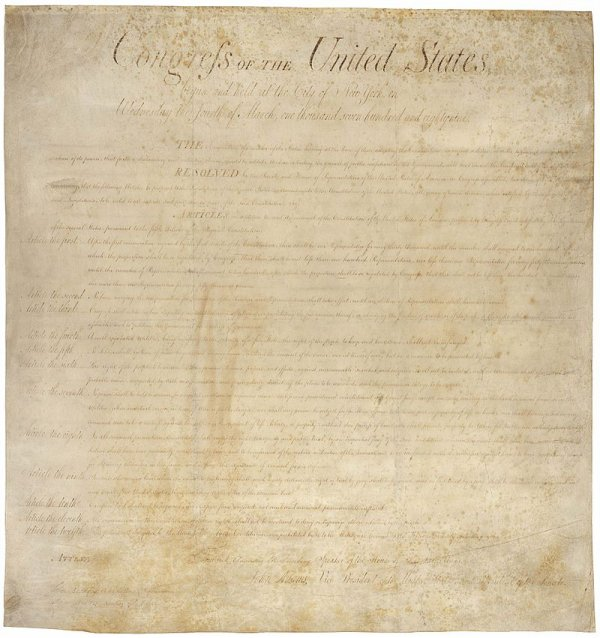 """Ça s'est passé un 15 décembre : Le """"Bill of Rights"""" américain est appliqué"""