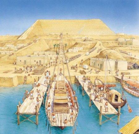 Par qui ont été construites les pyramides de Gizeh ?