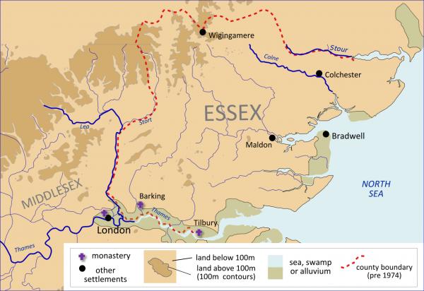 Æscwine, un dirigeant de l'Essex en lient avec le Kent