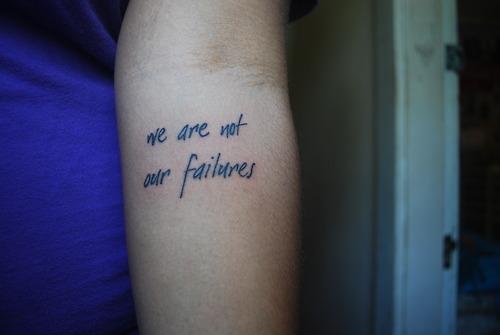 Ne ne sommes pas nos erreurs