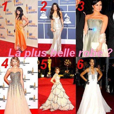 Qui porte la plus belle robe longue?