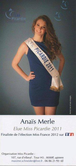 Anaïs Merle - Miss Picardie 2011
